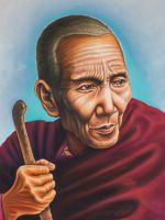 Der alte Mönch ohne Namen